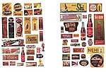 Uncommon & Unusual Soft Drink Signs -- Model Railroad Billboard -- N Scale -- #606
