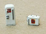 Mini Custom Soda Machine Set 7 Up -- Model Railroad Building Accessory -- N Scale -- #634