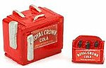 Custom Chest Soda Machine and Case RC Cola -- Model Railroad Building Accessory -- HO Scale -- #735