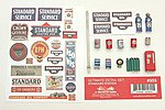 Ultimate Detail Set Standard Gas Station -- Model Railroad Building Accessory -- HO Scale -- #955