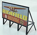 Custom Billboard 1930s Richfield Gas -- Model Railroad Sign -- HO Scale -- #979