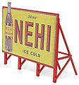 Custom Billboard 1940s Nehi -- Model Railroad Sign -- HO Scale -- #981