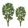 Alder Tree 1.5'' PRO 6 pack -- Z Scale Model Railroad Tree -- #94444