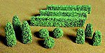 Boxwood Plants -- O Scale Model Railroad Scenery Plant -- #95585