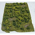 Flowering Meadow Mat - Yellow Sheet -- Model Railroad Grass Mat -- #95605