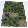 Flowering Meadow Mat - Purple Sheet -- Model Railroad Grass Mat -- #95606