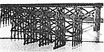 Timber Trestle Bridge Kit -- N Scale Model Railroad Bridge -- #1014