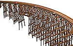 Curved Wood Trestle Kit -- HO Scale Model Railroad Bridge -- #2016