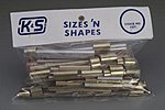 Sizes & Shapes Small & Large Metal Pieces (Approx. 1lb. Bag)