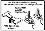 Coupler Conversion Kit - Talgo Truck Adaptor (24) -- HO Scale Model Train Coupler -- #212