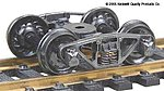 Vulcan Double Truss Trucks w/33 Ribbed Back Wheels (Metal) -- HO Scale Model Train Truck -- #515