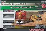 Santa Fe Super Chief Starter Set (silver) -- N Scale Model Train Set -- #1060018