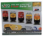 GE ES44AC GEVO and Mixed Freight Starter Set -- N Scale Model Train Set -- #1060020