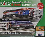 F40PH Commuter Train Starter Set - Metra -- N Scale Model Train Set -- #1060032