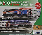 MP36PH Commuter Train Starter Set - Virginia Railway Express -- N Scale Model Train Set -- #1060033