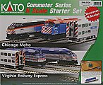 F40PH Commuter Train Starter Set - Virginia Railway Express -- N Scale Model Train Set -- #1060034