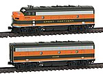 EMD F7 A/B Set Great Northern #444A/B -- N Scale Model Train Diesel Locomotive -- #1060420