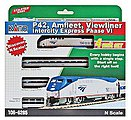 Amfleet & Viewliner Intercity Express Train-Only Amtrak P42 -- N Scale Model Train Set -- #1066285