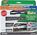 Chicago Metra Bi-Level Commuter Train-Only Set - N-Scale