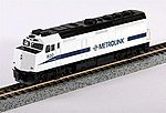 EMD F40PH Southern California Metrolink SCAX -- N Scale Model Train Diesel Locomotive -- #1769005