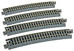 Curved Roadbed Track Section - Unitrack -- N Scale Nickel Silver Model Train Track -- #20160