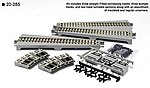 Straight Turntable Extension Track Set Unitrack -- N Scale Nickel Silver Model Track -- #20285