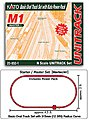 Unitrack M1 Basic Oval Track Starter Set -- N Scale Nickel Silver Model Train Track -- #208501