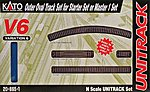 Unitrack V6 Set - Outer Oval For M1 Starter -- N Scale Nickel Silver Model Train Track -- #208651