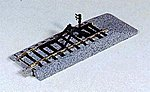 Unitrack - Straight Sections w/Bumpers 4-1/4'' -- HO Scale Nickel Silver Model Train Track -- #2170