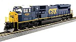 EMD SD80MAC CSX #4592 -- HO Scale Model Train Diesel Locomotive -- #376372
