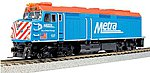 EMD F40PH Commuter Version Chicago Metra #137 -- HO Scale Model Train Diesel Locomotive -- #376571