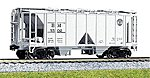 ACF 70 Ton Open Side Covered Hopper Boston & Maine -- HO Scale Model Train Freight Car -- #380201