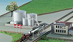 Large Fuel Tanks Kit -- Z Scale Model Railroad Building Accessory -- #36726