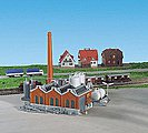 Warehouse Building Kit (Includes Smoke Stack & Storage Tanks) -- Z Scale Model Railroad -- #36764