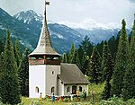 Village Church in Sertig Kit -- N Scale Model Railroad Building -- #37031