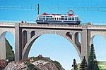 Stone Arch Viaduct Bridge -- N Scale Model Railroad Bridge -- #37666
