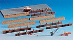 Dockside Accessories Set -- HO Scale Model Railroad Accessory -- #38528