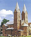 Roman Catholic Church -- HO Scale Model Railroad Building Kit -- #39760