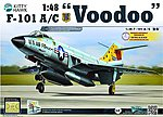 F101A/C Voodoo Fighter -- Plastic Model Airplane Kit -- 1/48 Scale -- #80115