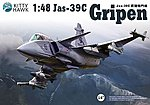 Jas39A/C Gripen Fighter (New Tool) (JUN) -- Plastic Model Airplane Kit -- 1/48 Scale -- #80117