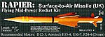 Rapier S.A.M. -- Pro Level Model Rocket Kit -- #14