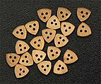 Triangular Dead Eye 5mm (8) -- Wooden Boat Model Accessory -- #8529