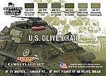 US Olive Drab Camouflage Acrylic Set (6 22ml Bottles)