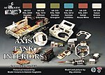 Axis WWII Tank Interiors Camouflage Acrylic Set (6 22ml Bottles)