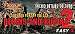 S. Europe Village Debris & Rubble Scenic Details Color #2 Acrylic Set (3 22ml Bottles)