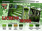 Lichens & Moss Powder & Color Acrylic Paint (6 22ml Bottles) -- Hobby and Model Paint Set -- #spg6