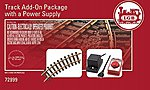 Add-On Track & Power Supply Set -- G Scale Model Train Track Accessory -- #72999