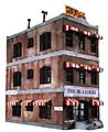 Belvedere Downtown Hotel Kit -- Model Train Building -- HO Scale -- #1339