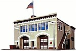 Volunteer Fire Company Kit -- Model Railroad Building -- N Scale -- #7483