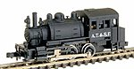 0-6-0T Saddle Tank Standard DC Santa Fe Black -- Model Train Steam -- N Scale -- #7781